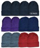 12 of 12 Piece Ladies Winter Toboggan Beanie Hats by SOCKSNBULK Thermal Sport