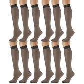 12 of Yacht & Smith Trouser Socks for Women, 20 Denier Opaque Knee High Dress Socks
