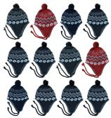 12 of Yacht & Smith Kids Winter Fleece Helmet Hat Assorted