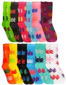 12 of WSD Womens Value Pack Printed Crew Socks Many Colors, Soft Touch Fun Prints (Pack L)