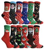 12 of Yacht & Smith Christmas Holiday Socks, Sock Size 9-11
