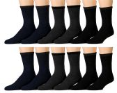 12 of Yacht & Smith Non Slip Gripper Bottom Men's Winter Thermal Tube Socks Size 10-13