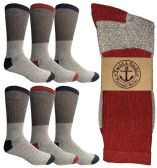 6 of Yacht & Smith Men's Winter Thermal Cotton Crew Socks Size 10-13