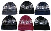 6 of Yacht & Smith Unisex Snowflake Fleece Lined Winter Beanie