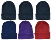 6 of Yacht & Smith Assorted Color Unisex Winter Beanie Hat