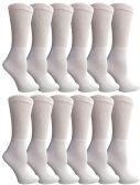 6 of Yacht & Smith Women's Cotton Diabetic Non-Binding Crew Socks - Size 9-11 White