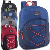 24 of Trailmaker 17 Inch Bungee Backpack With Side Pocket - 5 Colors Boys