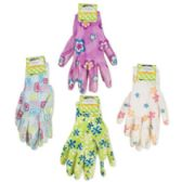 48 of Ladies Printed Nitrile Coated Garden Gloves