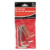 72 of 8 PC. HEX KEY SET-SAE