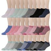 30 of Yacht & Smith Womens 9-11 No Show Ankle Socks Assorted Prints, Solid Pastels