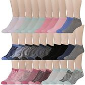 30 of Yacht & Smith Womens 9-11 No Show Ankle Socks Assorted Prints, Assorted Solids
