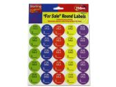 "72 of ""For Sale"" Round Sticker Labels"