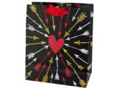 120 of Medium Arrows to Heart Valentine Gift Bag