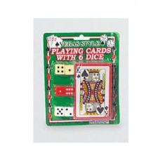 72 of Vegas style playing card with dice