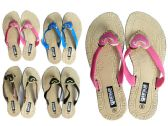 24 of Women's Slippers 4 Assorted Colors