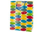 144 of Large Multi-Colored Dots Gift Bag