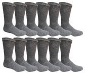 240 of Men's Dark Gray Cotton Crew Sock Size 10-13