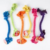 96 of Dog Toy Rope Chew 6 Assorted Colors & Styles In Pdq
