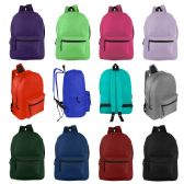 24 of 17 Inch Kids Basic Backpack in 12 Assorted Colors