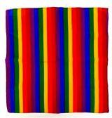 72 of Rainbow Bandanna Head Cover 22x22 Cotton
