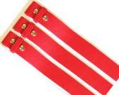48 of No buckle Plain Red Belt