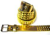 48 of Pyramid Studded Gold Belt