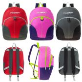 24 of 17 Inch Kids Sport Backpacks in 3 Assorted Colors - Case of 24