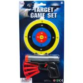 96 of TOY GUN WITH SOFT DARTS AND TARGET ON BLISTER CARD