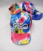 "36 of Kid's ""Princess"" Floral Baseball Caps"