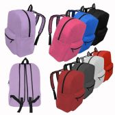 """24 of 17"""" Kids Basic Backpacks in 8 Assorted Colors"""