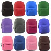 """24 of 17"""" Classic Kids Backpacks in 12 Assorted Colors"""