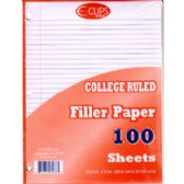 60 of Filler Paper College Ruled - 100 Sheets