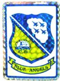 """96 of 3"""" x 4"""" decal, Blue Angels,"""