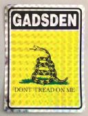 """96 of 3"""" x 4"""" decal, Gadsden - """"Dont Tread On Me"""
