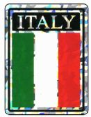 """96 of 3"""" x 4"""" Decal, Italy,"""