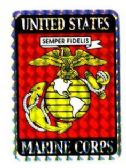 "96 of 3"" x 4"" decal, U.S. Marine Corps"