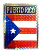 """96 of 3"""" x 4"""" Decal, Puerto Rico"""