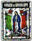 "96 of 3"" x 4"" Decal, Virgen de Guadalupe"