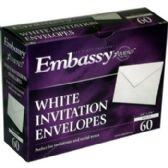 "24 of White Invitation Envelopes - 60 Ct - 4 3/8"" X 5 3/4"""