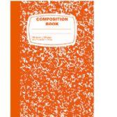 48 of Orange Composition Notebook - 100 Sheets