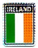 "96 of 3"" x 4"" ""IRELAND"" decal"