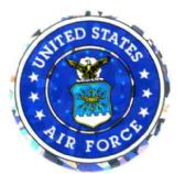 """96 of 3"""" Round decal, United States Air Force, design varies"""