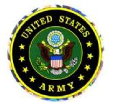 """96 of 3"""" Round decal, United States Army"""