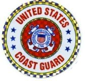 """96 of 3"""" Round decal, United States Coast Guard"""