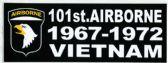 "48 of 3"" x 9"" decal, 101st Airborne 1967-1972, Vietnam"