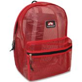 24 of Trailmaker 17 Inch Mesh Backpack - Red Only