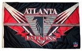 4 of 3' x 5' Atlanta Falcons NFL licensed flag, End Zone design, AMERICAN MADE FLAG with grommets.