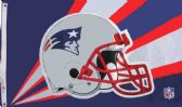 4 of 3' x 5' New England Patriots licensed NFL flag, Helmet design, AMERICAN MADE FLAG. NFL with grommets.