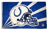 4 of 3' x 5' Indianapolis Colts NFL licensed flag, Helmet design, AMERICAN MADE FLAG with grommets