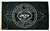 4 of 3' x 5' New York Jets NFL licensed flag, End zone design, AMERICAN MADE FLAG with grommets.